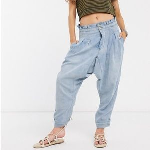 Free People Mover and Shaker cotton trouser Sz 4